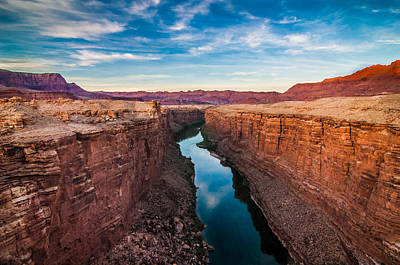 Colorado River At Marble Canyon Print by Erica Hanks