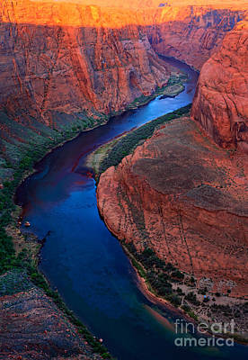 Colorado River Bend Print by Inge Johnsson