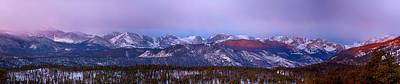 Colorado Photograph - Colorado Rocky Mountain Continental Divide Sunrise Panorama by James BO  Insogna