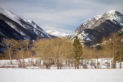Winter Photograph - Colorado Rocky Mountain Winter Horseshoe Park by James BO  Insogna