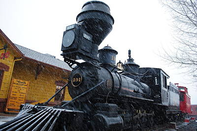 Train In The Winter Photograph - Colorado Train In The Snow by Julie Federico