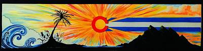 Waving Flag Mixed Media - Colorado Wherever You Are Its Always Home by Randy Segura