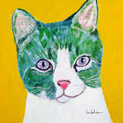 Whimsy Painting - Colorcat7 by Lou Belcher