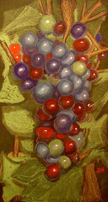 Colored Grapes Print by Joseph Hawkins