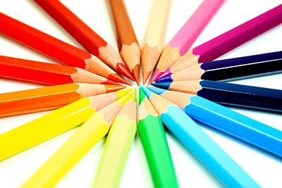 Colored Pencils Print by Michael Tompsett