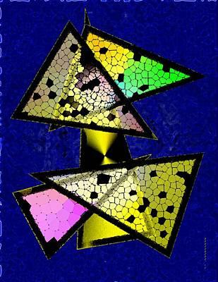 Gradient Digital Art - Colored Triangles Art by Mario Perez