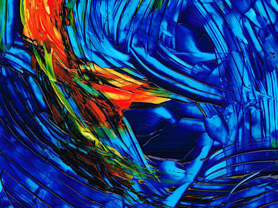 Abstract Movement Painting - Colorful Abstract Art - Energy Flow 1 - By Sharon Cummings by Sharon Cummings