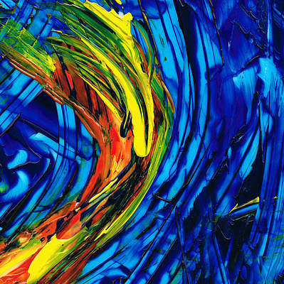 Blue And Red Painting - Colorful Abstract Art - Energy Flow 2 - By Sharon Cummings by Sharon Cummings
