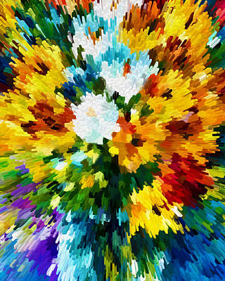 Bloom Digital Art - Colorful And Bright Flower by Lanjee Chee