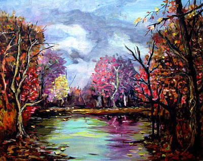 Water Painting - Colorful Autumn by Amani Al Hajeri