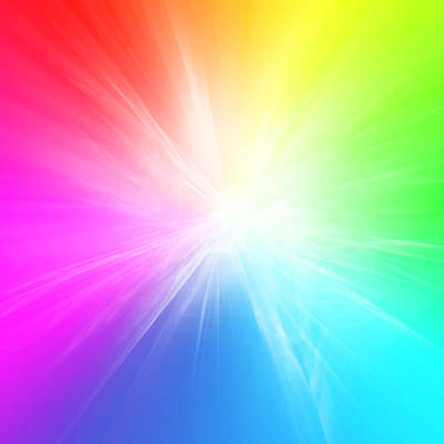Colorful Abstract Digital Art - Colorful Background by Les Cunliffe