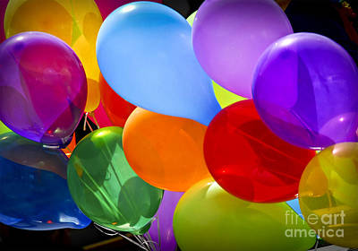 Children Playing Photograph - Colorful Balloons by Elena Elisseeva
