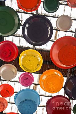 Colorful Bowls Print by Carlos Caetano