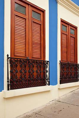 Colorful Buildings In Old San Juan Print by Brian Jannsen