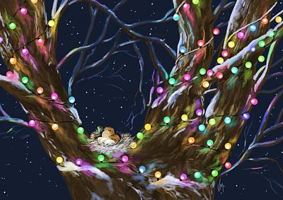 Digital Painting - Colorful Christmas by Veronica Minozzi