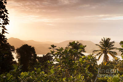 Landscape Photograph - Colorful Dawn Over Bay In The Caribbean by Matteo Colombo
