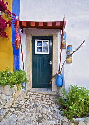 Colorful Door Of Obidos Print by David Letts