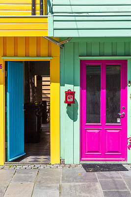 Colorful Doors And Walls Print by Aldona Pivoriene