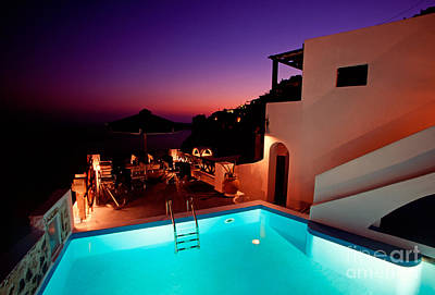 Vacances Photograph - Colorful Dusk In Santorini by Aiolos Greek Collections