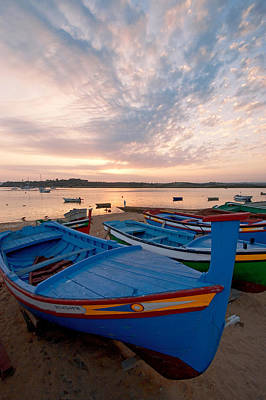 Europe Photograph - Colorful Fishing Boats Of Alvor by Susan  Degginger
