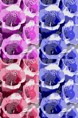 Isolated On White Mixed Media - Colorful Flowers  Bells by Toppart Sweden