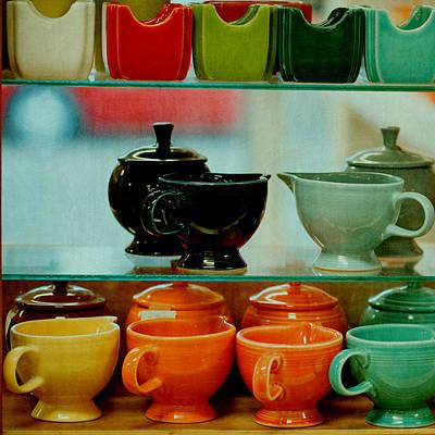 Fiestaware Photograph - Colorful Glassware by Bonnie Bruno