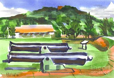 Ironton Painting - Colorful Green Fort Davidson by Kip DeVore