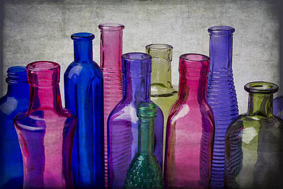 Colorful Group Of Bottles Print by Garry Gay