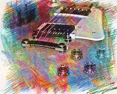 Epiphone Guitar Photograph - Colorful Les Paul by Lisa  Telquist