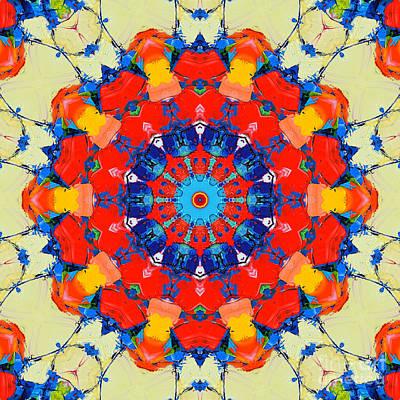 Colorful Mandala Print by Ana Maria Edulescu