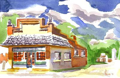 Store Fronts Painting - Colorful May Morning by Kip DeVore