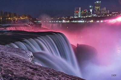 Photograph - Colorful Niagara Falls by J R Baldini M Photog