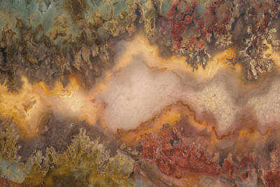 Nature Abstract Mixed Media - Colorful Plume Agate by Leland D Howard