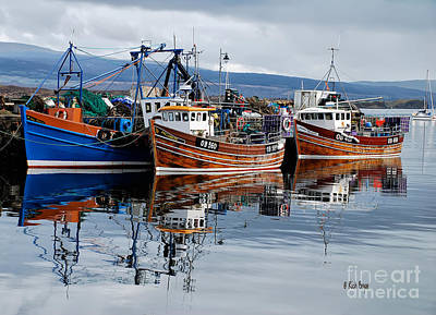 Boats In Water Photograph - Colorful Reflections by Lois Bryan