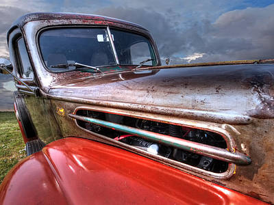 Colorful Rust - 1942 Ford Print by Gill Billington