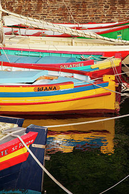 Languedoc Photograph - Colorful Sailboats In The Small Harbor by Brian Jannsen