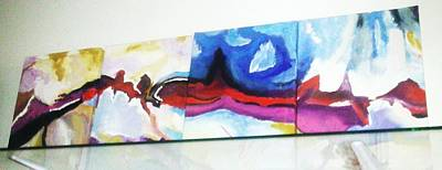 Basilio Painting - Colorful Sequence by Vickie Meza