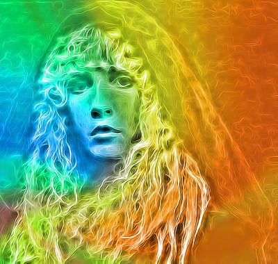 Colorful Stevie Nicks Original by Dan Sproul