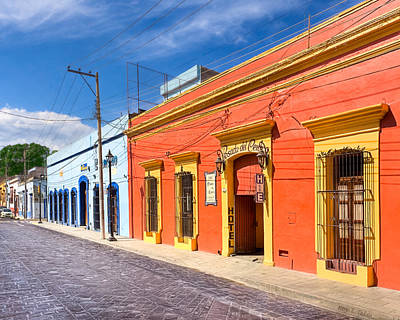 Oaxacan Photograph - Colorful Streets Of Colonial Oaxaca by Mark E Tisdale