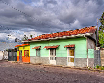 Colorful Streets Of Costa Rica - Liberia Print by Mark E Tisdale