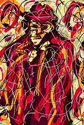 Colorful Suit Print by Rachel Scott