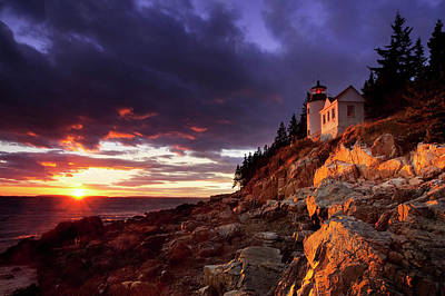 Bass Harbor Photograph - Colorful Sunset At Bass Harbor by Brian Jannsen