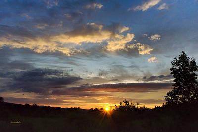 Colorful Sunset Landscape Print by Christina Rollo