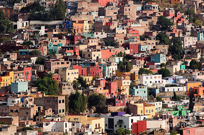 Window Photograph - Colorful Town Of Guanajuato Mexico by Oscar Gutierrez