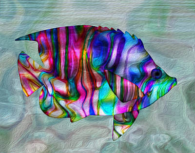 Colorful Abstract Painting - Colorful Tropical Fish by Jack Zulli