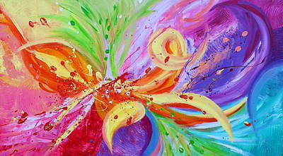 Texture Painting - Colorful Vision by Julia Apostolova