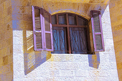 Colorful Window Shutters Print by Ben and Raisa Gertsberg
