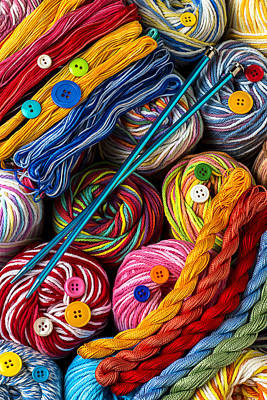 Textiles Photograph - Colorful World Of Art And Craft by Garry Gay