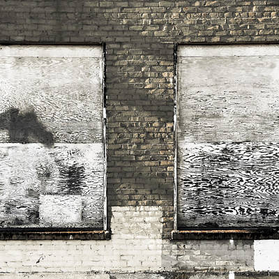 Brick Photograph - Colorless by Lee Harland