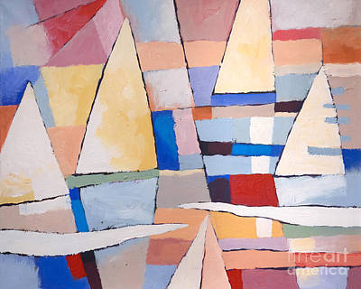 Colorfields Painting - Colorplay At The Sea by Lutz Baar